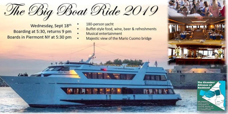 The Chamber Alliance of Rockland's Big Boat Ride 9-18-2019
